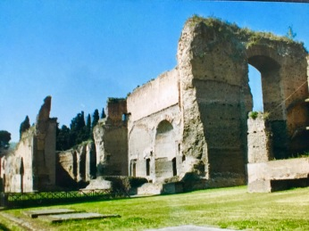 Remains of the baths of Caracalla, Rome.